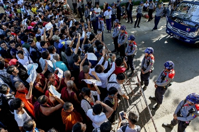 Anti Thailand Protests Enter 5th Day at Thai Embassy in Myanmar