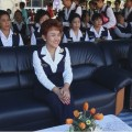 Navy Wives Association President Pranee Areenij along with members of the navy's Mekong Riverine Unit