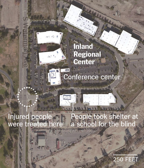 Maps and graphics of the shooting.
