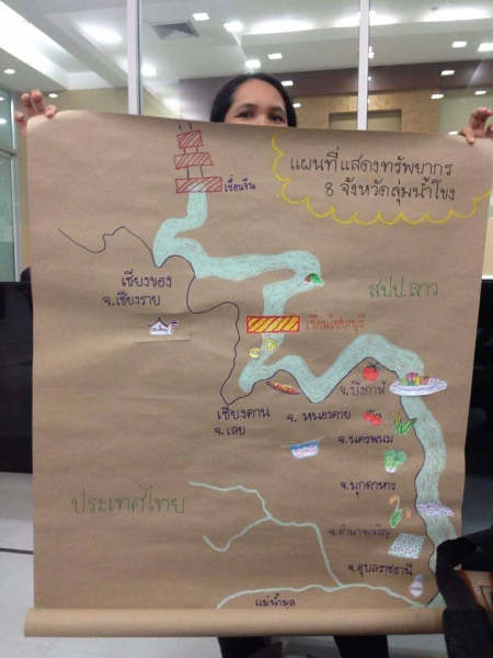 Map of the Mekong shows the critical resources that support the lives of communities along the river.