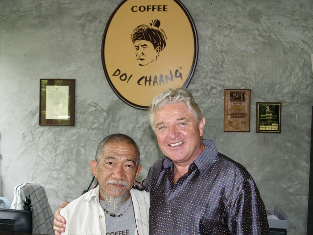 Wicha Promyong, CEO of Doi Chaang Coffee Company and co-founder, John Darch