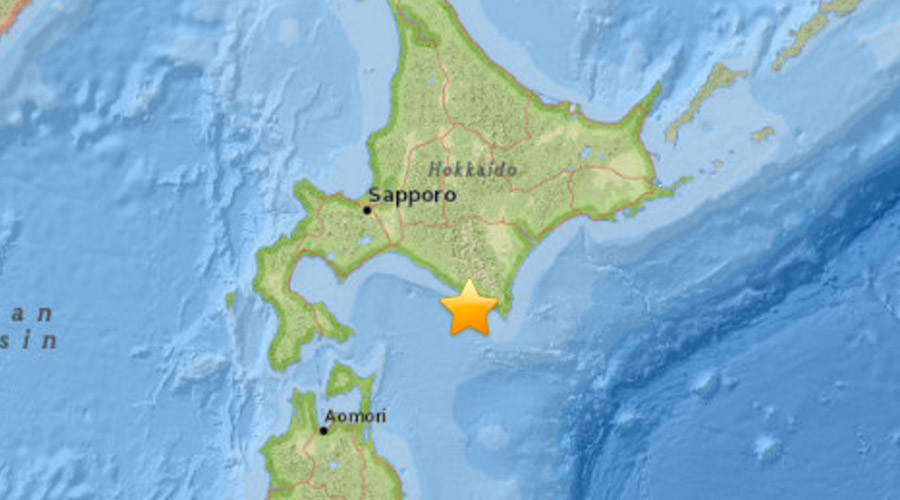 a magnitude of 6.7 struck off the northern Japanese island of Hokkaido on Thursday