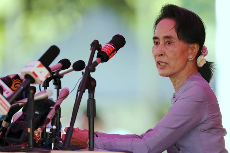 Democracy leader Aung San Suu Kyi said establishing peace with Myanmar's ethnic minorities will be the single most important goal when her party forms the government in coming weeks