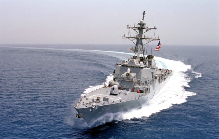 USS Curtis Wilbur, Sails Past Paracel Islands Claimed by China in South China Sea
