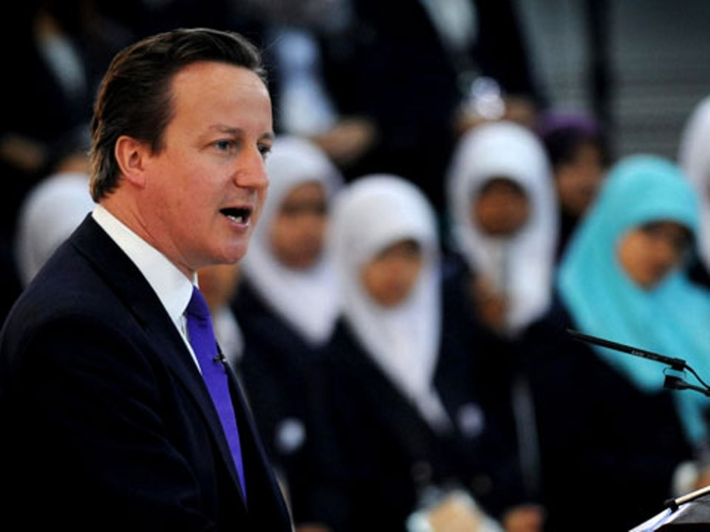 Cameron said that some men in Britain's Muslim communities prevented women from learning English