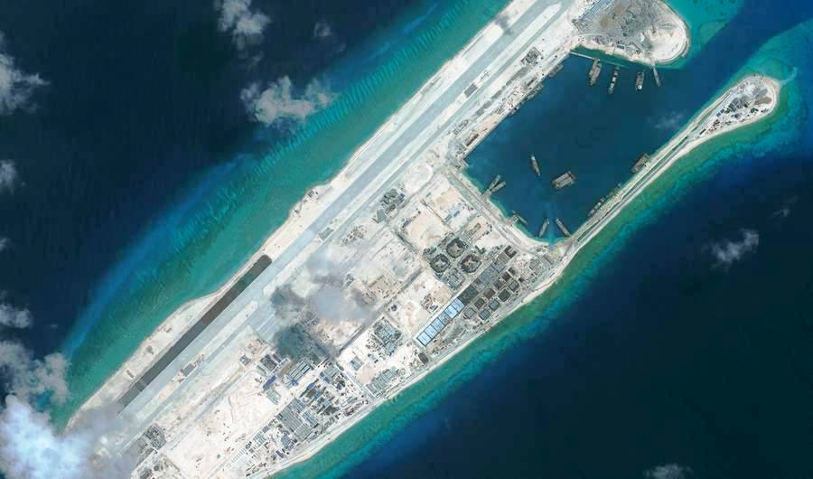 Chinese Foreign Ministry spokeswoman Hua Chunying said the test flight on the newly built airstrip on Fiery Cross Reef in the Spratly Islands was carried out to find out if the new airfield met the standards for civil aviation.