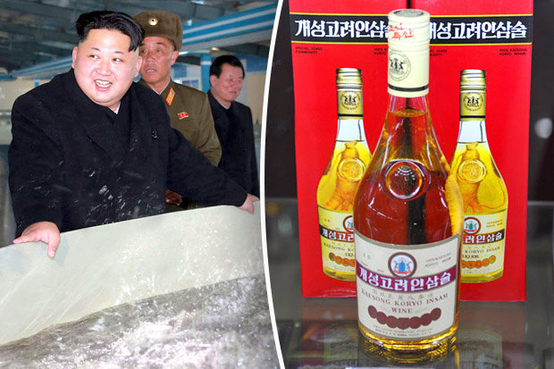 Kim Jong-un's top scientists have produced a liquor from the medicinal herb ginseng