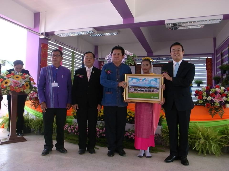 The Japanese government has supported the construction of school buildings earthquake resistant school for Dong Mada Mae Lao District, Chiang Rai Province