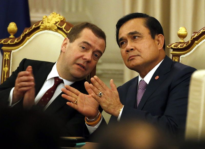 In the last 18 months, Thai junta leader General Prayuth Chan-ocha has met three times with Russian Prime Minister Dimitry Medvedev