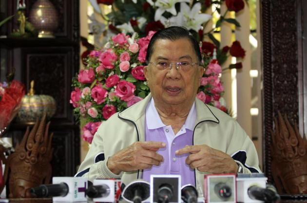 Former Prime Minister and Retired Supreme Commander General Chavalit Yongchaiyudh Urges Thailands Junta to hold Elections this Year