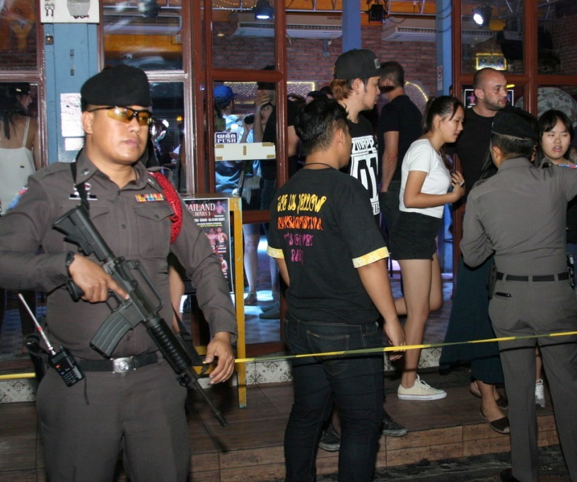 At 10pm last night, the police raided the complex, quickly roping off the area with police tape to stop anybody leaving or entering
