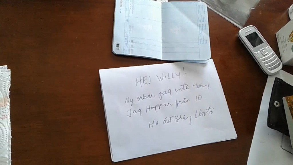 A farewell handwritten letter is found in the room of a Finnish man who jumped to his death