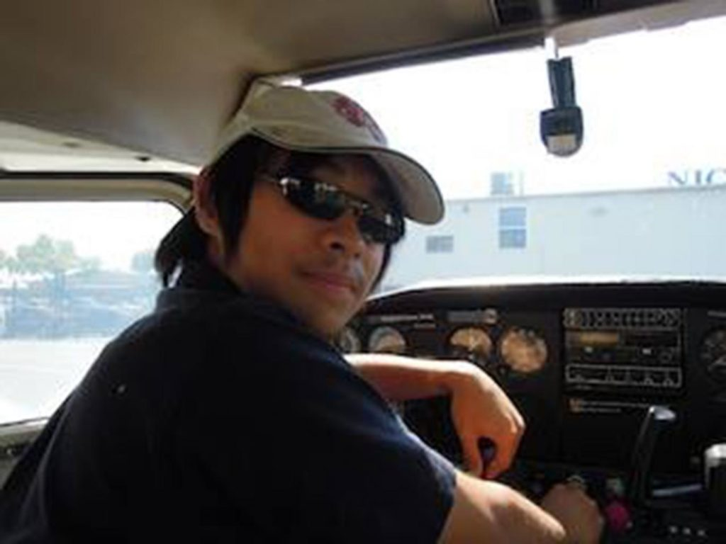 Terauchi's Facebook page shows him posing inside the cockpit of a small plane and says he trained as a pilot in California.