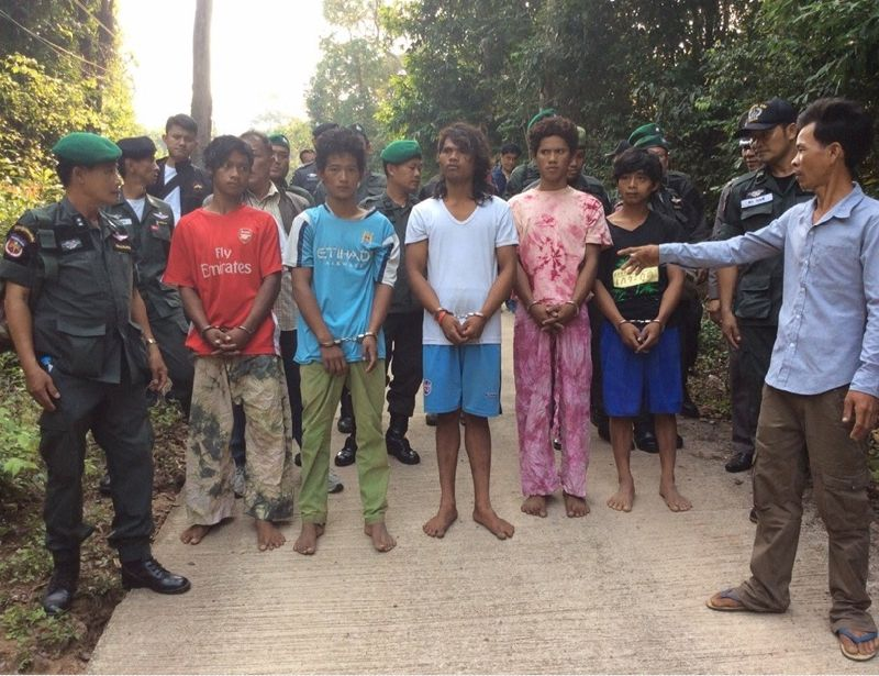 Five Cambodian nationals accused of assaulting a group of French tourists and raping two women on Koh Kut in Trat province.