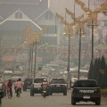 Air quality in Mae Sai district has been exceeding the safety level since Saturday