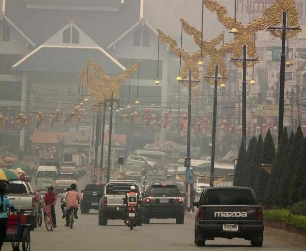 Haze in Mae Sai Exceeds Safety Air Quality Levels