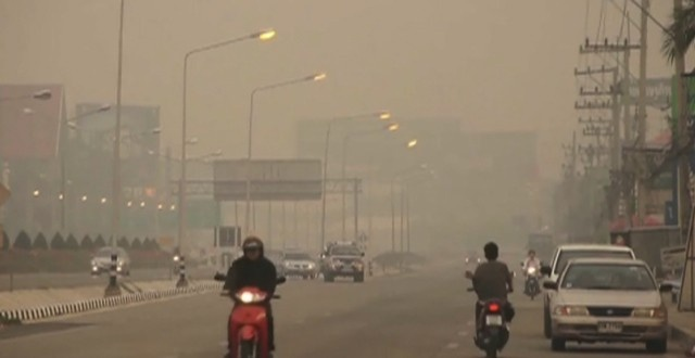 In northern Thailand, smoke and haze is an annual problem affecting the region.