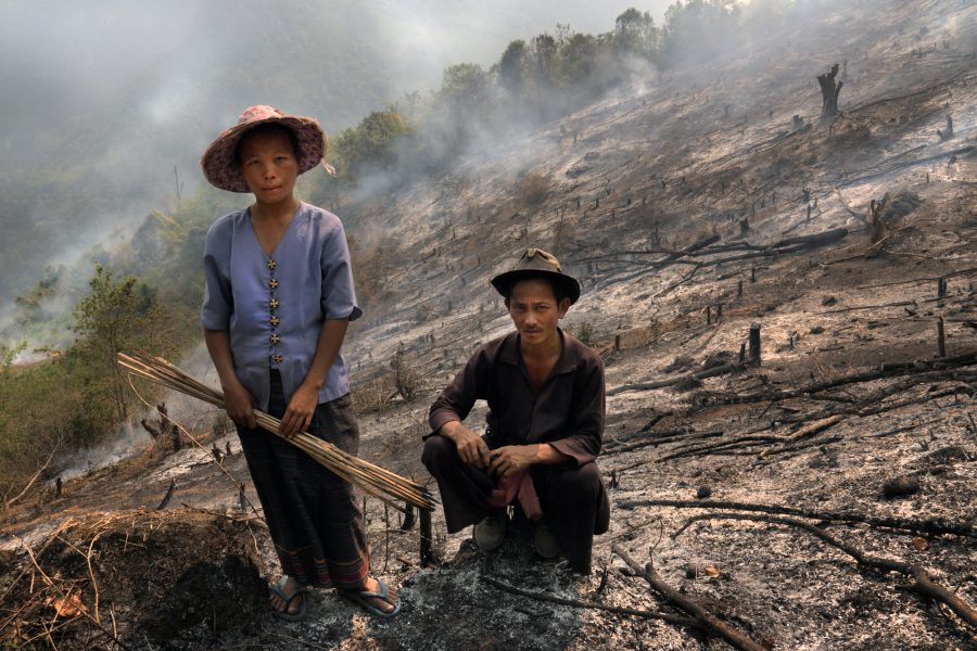 Fire started in the Chiang Rai forest have already scorched 16 ha of land