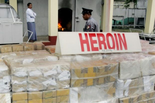 Myanmar Seizes $30 Million Worth of Heroin and Methamphetamines