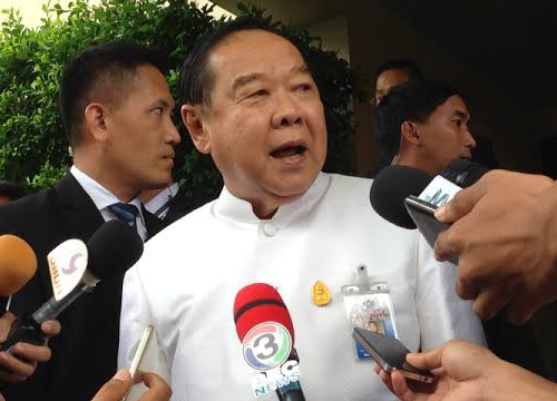 Thailand's General Prawit Say's Critics of Government Will Get Forced Detention