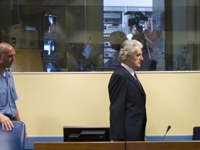 Former Bosnian Serb leader ... Radovan Karadzic is found guilty for the slaughter of 8,000 Bosnian Muslims at Srebrenica