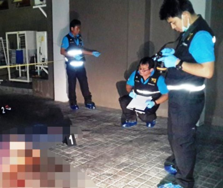 A quarrel ended in a tragedy when a young Frenchman jumped to his death from the 26th floor of his Bangkok condominium