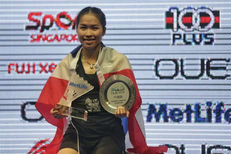 Thailand's Ratchanok Intanon will become the new world No. 1 after winning the OUE Singapore Open women's singles crown on April 17, 2016
