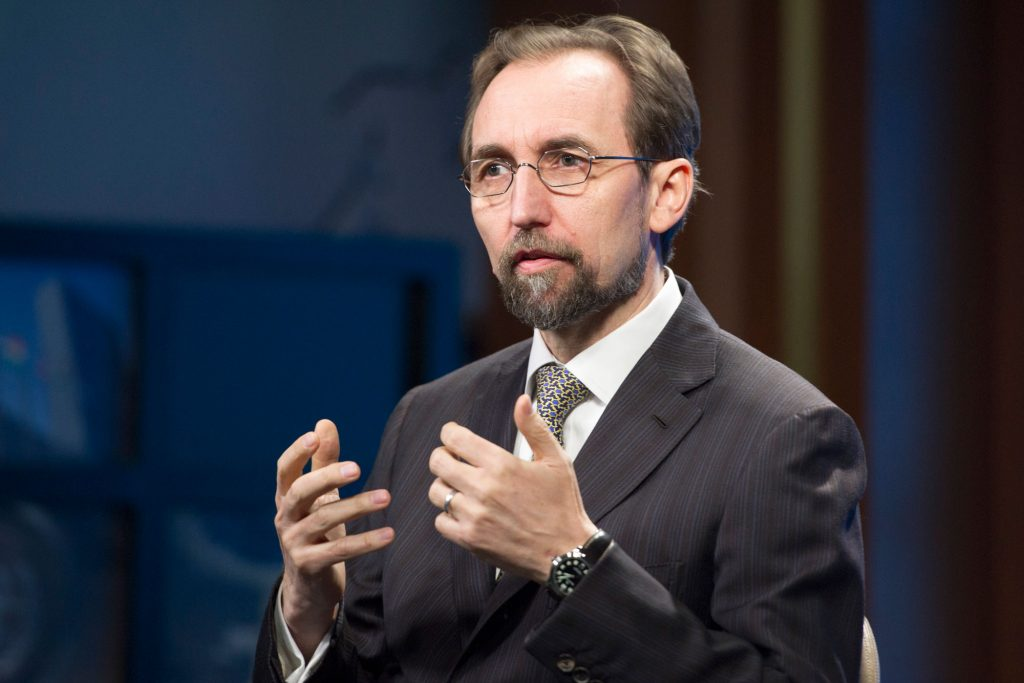 Zeid RaÕad Al-Hussein, UN High Commissioner for Human Rights, is Interviewed by DPI
