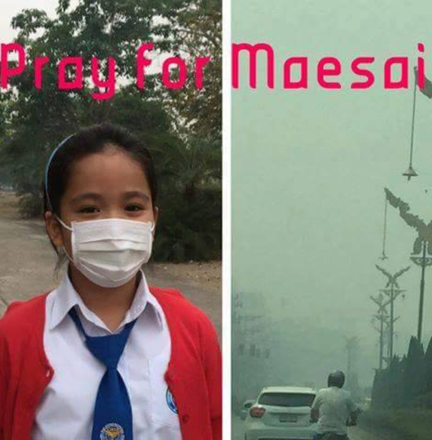 Chiang Rai Residents Campaign on Twitter as Haze Exceeds Health Levels #prayformaesai