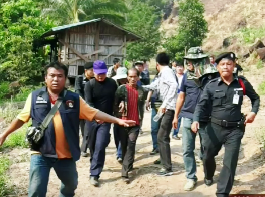 Sorn Humpiang was arrested at  a corn plantation about 3 km away from the victim's home.