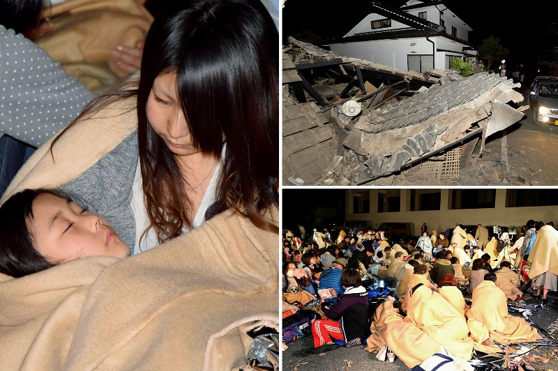 houses destroyed and Dozens feared trapped as 6.2 magnitude earthquake rocks Japan