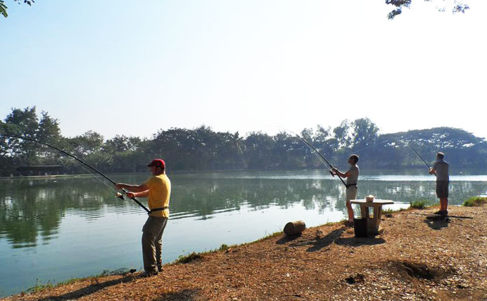 The lake was developed into a recreational spot in 2014 by local bodies to cope with the areas growing popularity.