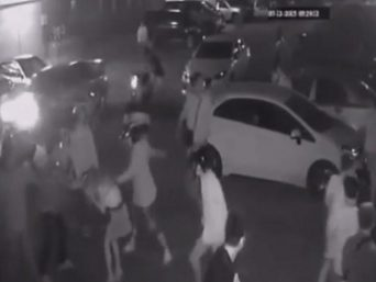 A gang of thugs viciously attacked the woman. Picture: YouTubeSource:Supplied