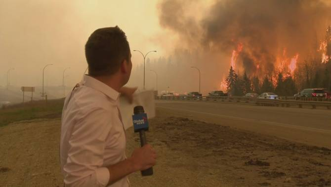 Wildfire Rages through Canada's Fort McMurray Alberta, Forcing Mass Evacuation