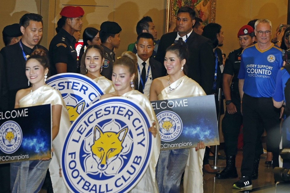 Champions Leicester City arrive in Bangkok for Thai tour