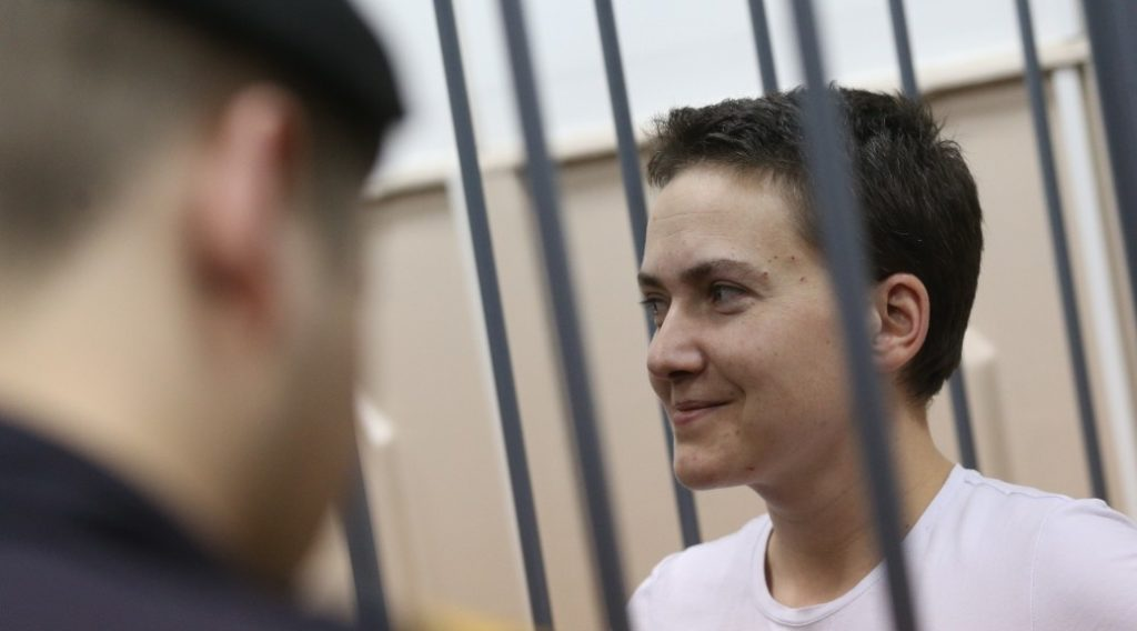 Ukrainian military pilot Nadiya Savchenko was captured in 2014 while fighting with Ukrainian forces against pro-Moscow separatists in eastern Ukraine.
