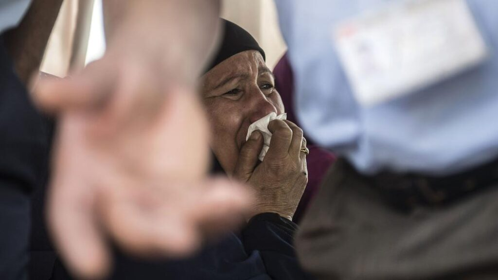 Around 15 relatives of passengers on board the missing flight arrived at Cairo airport Thursday morning