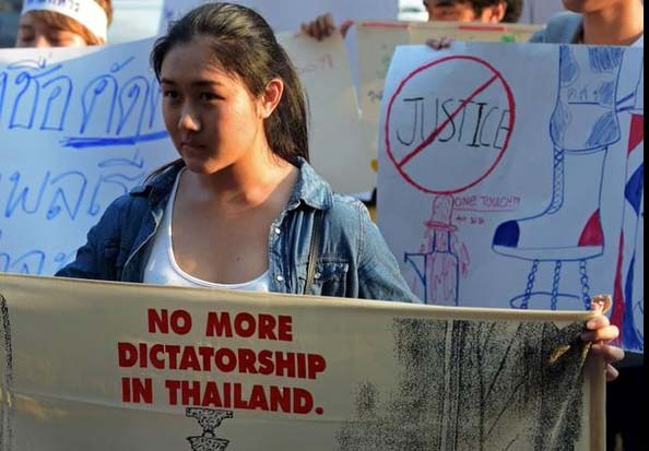 Mother of Thailand's Highest-Profile Anti-Junta Activists Charged with Lese-Majeste