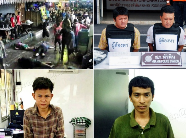 Suphattha Baithong and Yingyai Saengkhamin, both aged 32, and Siva Noksri and Chaiya Jaiboon, both 20 confessed