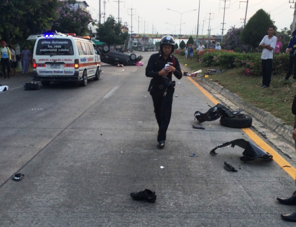 Three cyclists were killed when a speeding car driven by Patsuada Jayruan slammed into them as they rode along the side of the road.