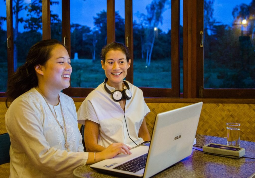 Hado counseling device measures the body's energy at Museflower Retreat & Spa Chiang Rai