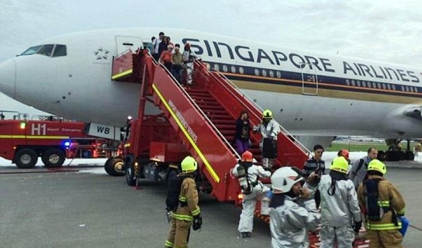 The fire was put out by airport emergency services and there were no injuries to the 222 passengers and 19 crew on board.