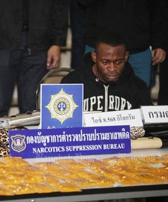 Nigerian and Thai Woman Busted with 8.5kg of 'Chrystal Meth'