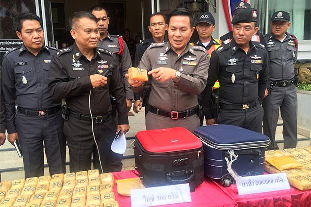 Two Boys, Aged 12 and 15 Caught with 200,000 Meth Pills in Phan Chiang Rai