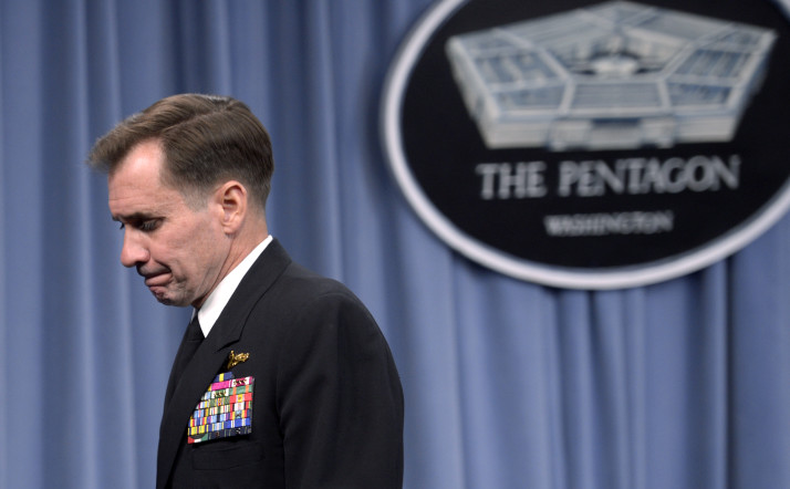 """State Department spokesman Rear Admiral John Kirby declined to comment on the tier rankings: """"We will not comment on the contents of this year's report until after the report is released,"""" he said."""