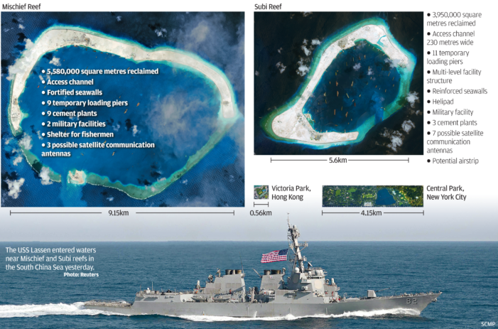U.S. Warns China Against Provocations in South Cina Sea after Rulings from the Hague