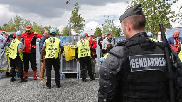 Police in Belgium arrested 12 people after conducting searches across the country after learning about a plan to attack a Euro 2016 soccer game. (Regis Duvignau/Reuters)