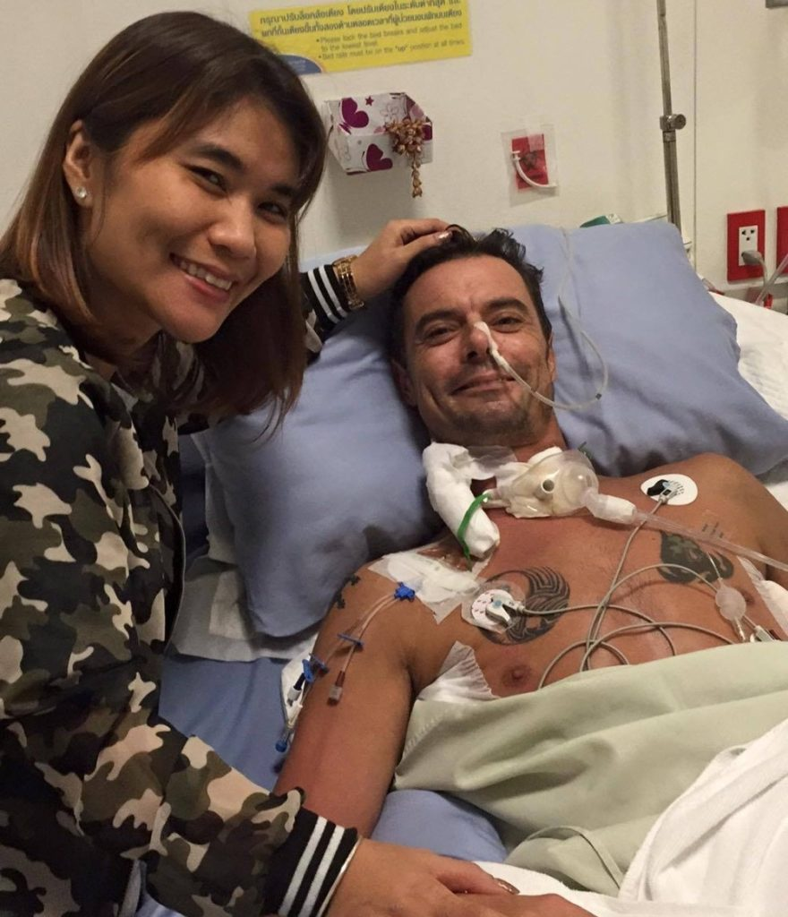David Connelly, in Thailand visiting his father, was involved in a near fatal motorcycle accident early last month and has been recovering in a Thai hospital since.