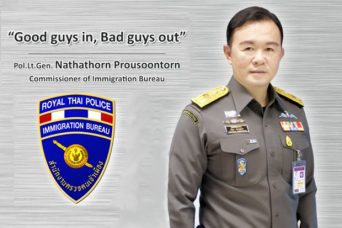 "Pol Lt Gen Nathathorn Prousoontorn, head of the Police Immigration Bureau, says corrupt officers are protecting the transnational criminals he is after, under his policy of ""Good guys in, bad guys out""..."