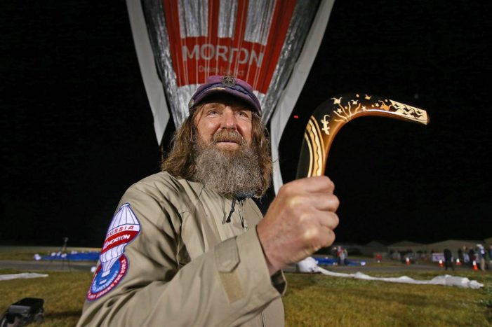 Russian Balloonist Claims New World Record, Flying Solo Around the World